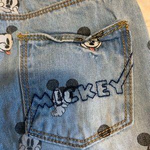 zara baby mickey shorts